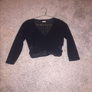 Cropped Criss Cross Top